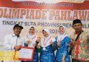 Juara 1 LCT Olimpiade Pahlawan Tingkat SLTA Provinsi Bengkulu Tahun 2019